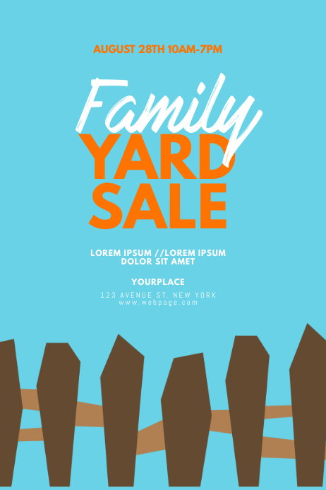 Yard Sale Flyer Design Template