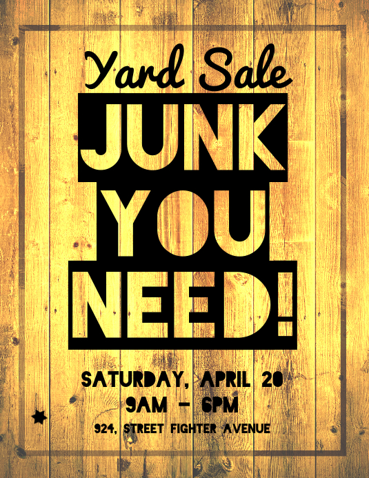 Yard Sale Poster Flyer