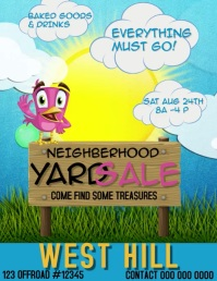 yARD SALE FLYER TEMPLATE Pamflet (Letter AS)
