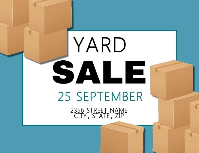 Yard Sale Flyer Template Folheto (US Letter)