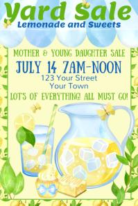 Yard Sale Lemonade Stand Poster template