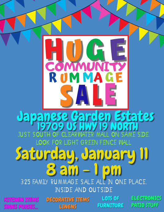RUMMAGE SALE 2 Flyer (US-Letter) template