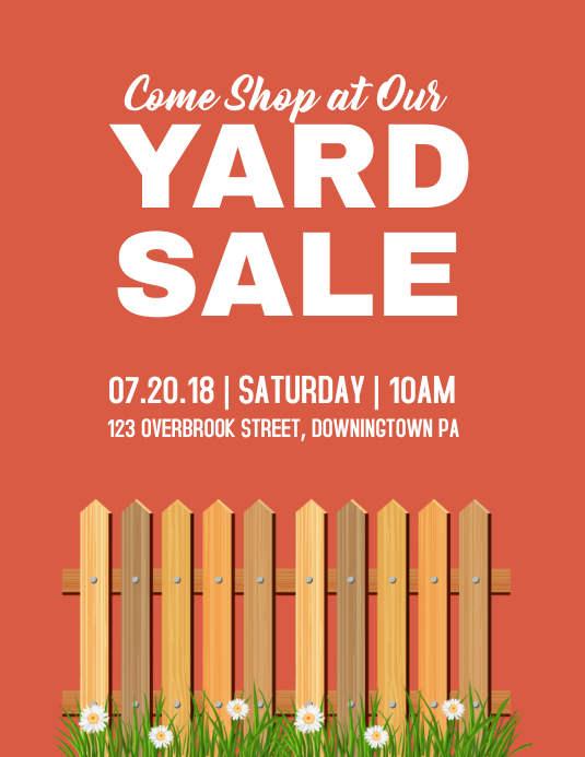 YARD SALE Template | PosterMyWall