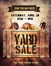 Yard Sale Poster Flyer Template