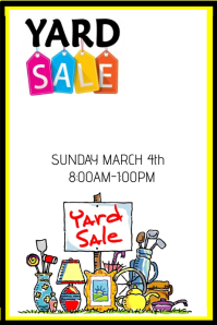 photo regarding Printable Garage Sale Signs referred to as Personalize 770+ Garage Sale Templates PosterMyWall