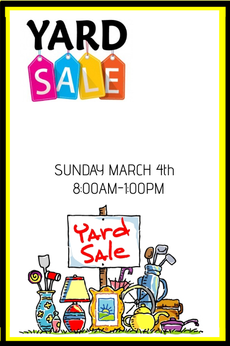 free garage sale templates - Romeo.landinez.co