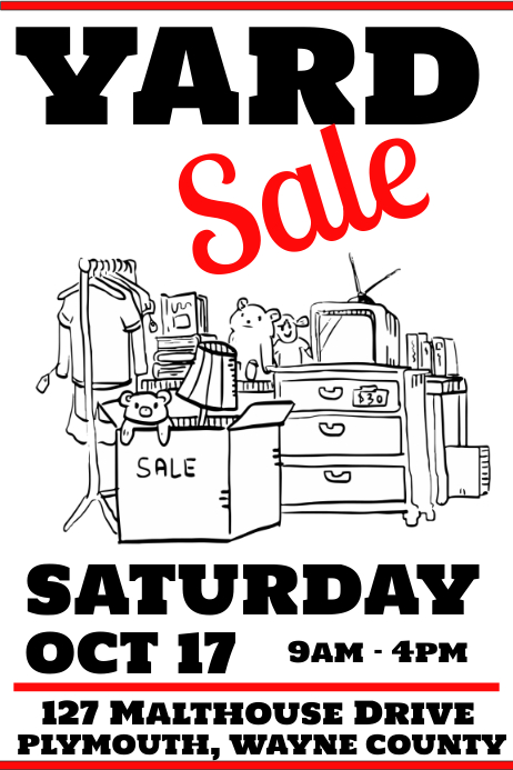 Yard Sale Poster Template
