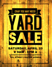 Yard Sale Retail Poster Flyer