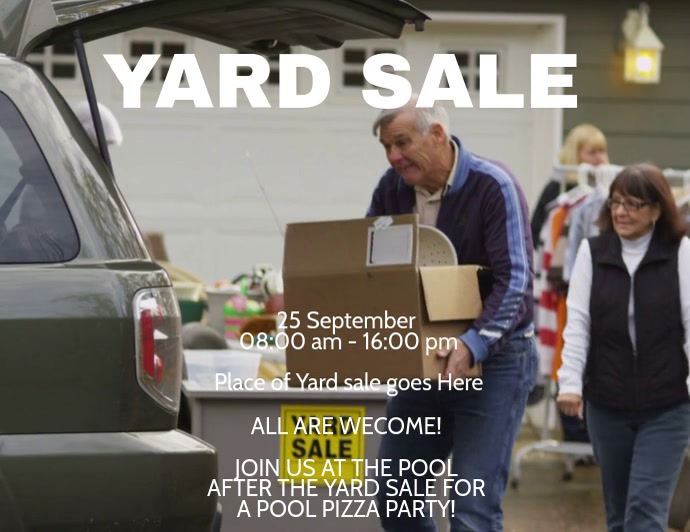 Yard Sale Video Flyer Template