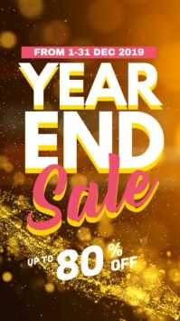 Year End Sale Digital Display Video