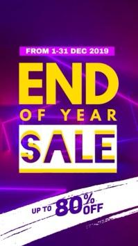 Year End Sale Display video
