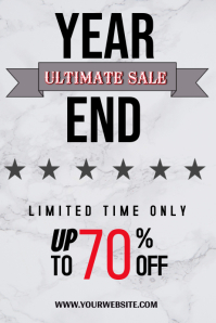 Year end sale flyer Poster template