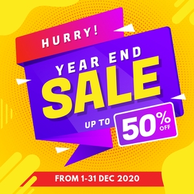 Year End Sale Instagram Post Instagram-bericht template