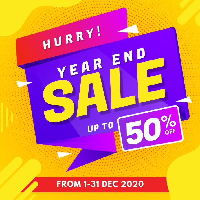 Year End Sale Instagram Post