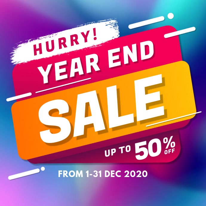 Year End Sale Instagram Video Post