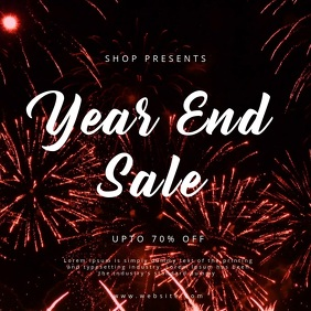 Year End Sale Poster Template