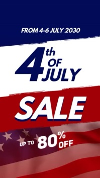Year End Sale Promotional Video Display digitale (9:16) template