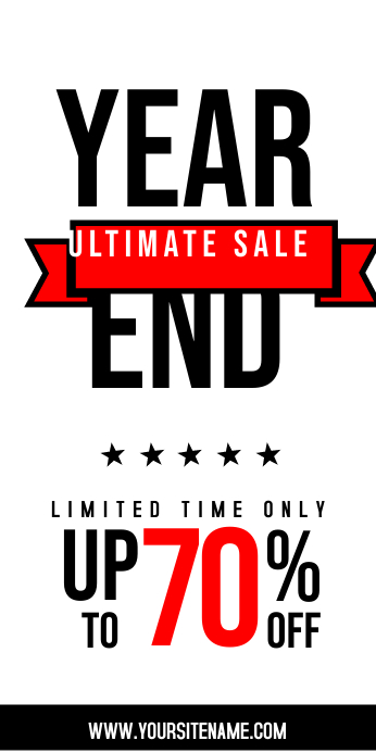 Year End Sale Roll Up Banner