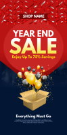 Year End Sale Roll Up Banner template