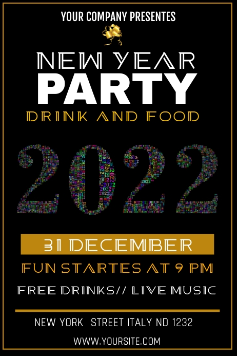 YEAR PARTY Poster template