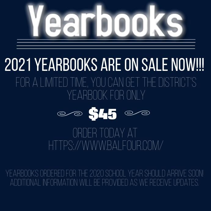 Yearbook Flyer Instagram Post template
