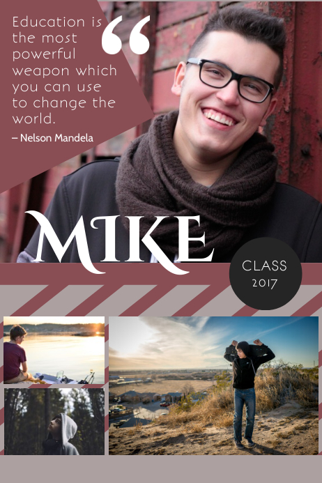 design a fantastic yearbook page for free postermywall - Senior Yearbook Ad Templates Free