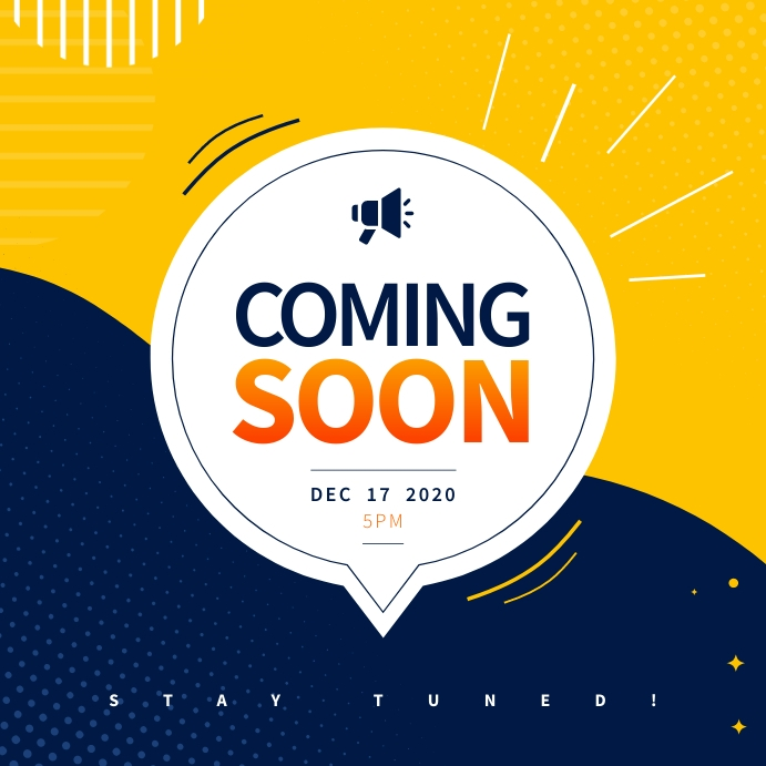 Yellow & Blue Coming Soon Instagram Image template