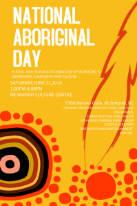 Yellow Aboriginal Day Event Poster Template