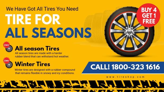 Yellow All Season Tires Digital Ad
