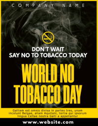 yellow and black and white world no tobacco d