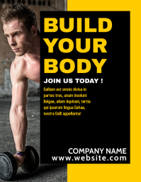 yellow and black flyer gym advertisement