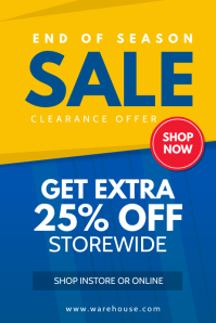 Yellow and Blue Sale Poster