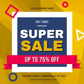 Yellow and Blue Sale Square Video