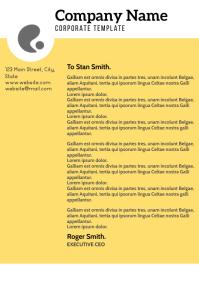 yellow and orange letterhead template