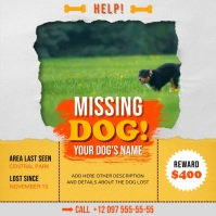 Yellow and Orange Missing Dog Square Video template