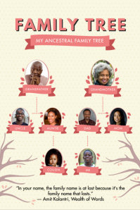 Yellow and Pink Family Tree