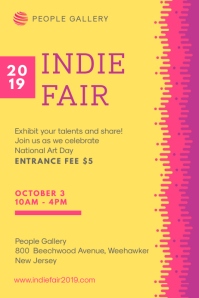 Yellow and Pink Indie Fair Poster