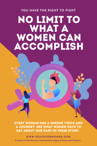 Yellow and Purple women's rights poster