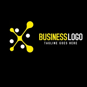 Yellow and white business logo black backgrou