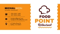 Yellow and White Restaurant Busines Card Desi template