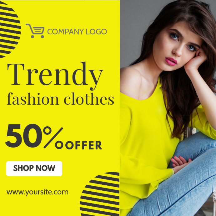 Yellow Apparel Instagram template | PosterMyWall