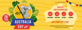 Yellow Australia Day Facebook Banner template