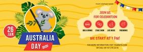 Yellow Australia Day Facebook Banner Facebook-Cover template