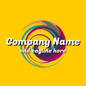 yellow background colorful creative logo template