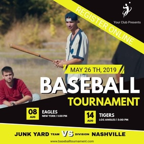 Yellow Baseball Event Registration Video