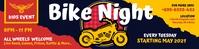 Yellow Bike Night Event 2'x8' Banner Template