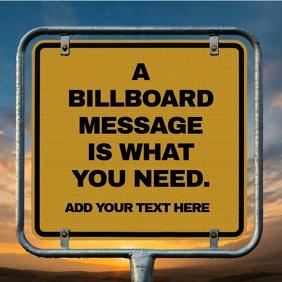 Yellow Billboard Text Video