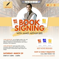 Yellow Book Author Signing Instagram Post Tem template