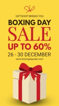 Yellow Boxing Day Digital Display Digitale Vertoning (9:16) template
