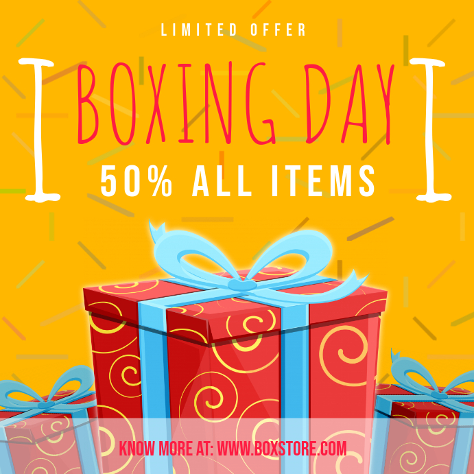 Yellow Boxing Day Sale Instagram Post